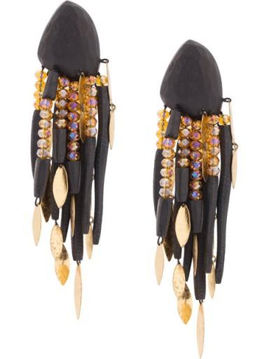MONIES chandelier earrings / statement clip-on