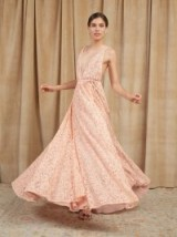 Reformation Montego Dress in Valentina | plunge front lace maxi