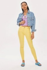 MOTO Yellow Leigh Jeans | ankle grazing skinnies