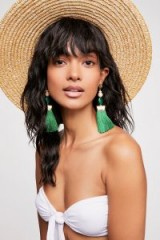 Nectar Nectar Tassel Earrings in green | summer jewellery