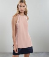 REISS OLIVE LADDER DETAIL SLEEVELESS TOP PINK