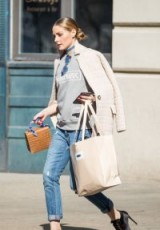 Olivia Palermo casual street style ~ neutral outfit
