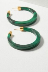 Gas Bijoux Owena Large Tortoiseshell Hoop Earrings | green jewellery