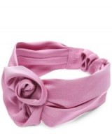 JENNIFER BEHR Peony Headband / pink silk vintage style hair accessory
