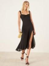 Reformation Peridot Dress Black | LBD | side slit summer frock
