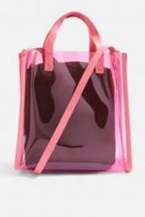 Topshop Perspex Shopper Bag | clear pink bags