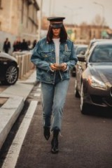 How to pull off double denim – street style at Milan Fashion Week