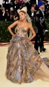 Ariana Grande in Vera Wang at the 2018 Met Gala ~ designer gowns