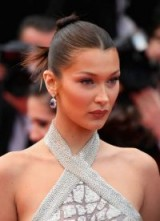Bella Hadid glamour at Cannes 2018 ~ red carpet hair and make-up