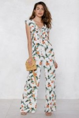 Nasty Gal Plant Touch This Palm Jumpsuit | summer holiday style
