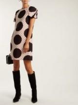 VALENTINO Polka-dot wool-silk crepe dress ~ retro look