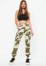 missguided premium khaki chain camo cargo trousers – camouflage – prints – cuffed – pants – cargo – casual