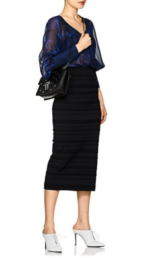 PROENZA SCHOULER Peony-Print Silk Blouse Dress / feminine day wear