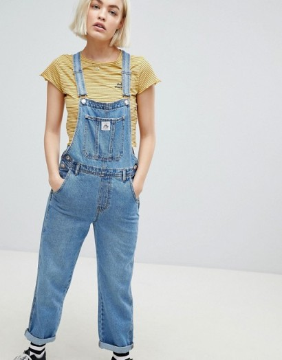 Pull&Bear denim dungaree in blue – blue – overalls – dungarees – casual – weekend