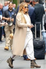 Jennifer Lopez looks great in this casual, neutral toned outfit ~ celebrity street style