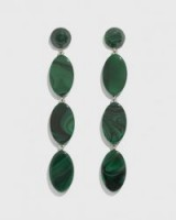 RACHEL COMEY bond green acrylic drop earrings