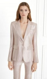 Rachel Zoe Debra Metallic Suiting Blazer ~ shiny trouser suit jackets