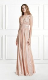 Rachel Zoe Madison Metallic Jersey Gown ~ gathered event gowns