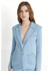 Rachel Zoe Shannon Light Denim Blazer ~ stylish trouser suit jackets