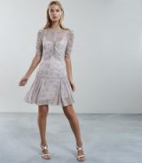 Reiss RAE DITSY PRINT TEA DRESS | pretty ruched frocks | summer event clothing