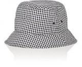RAG & BONE Ellis Bucket Hat / navy and cream gingham