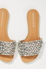 Raphaella Booz Embellished-Slide Sandals | glamorous jewelled flats