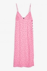 Topshop Red and Pink Spot Slip Dress