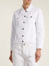 FRAME Rigid Re-Release white denim jacket
