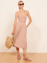 Reformation Rou Dress in blush | pale pink fit and flare