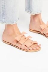 Jeffrey Campbell Sahara Slip On Sandal Blush Suede | cute bow flats