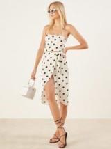 Reformation Salento Dress Comet | spot print halterneck | halter sundresses