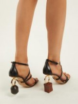 JACQUEMUS Samba ornamental-heel leather sandals – mismatched heels