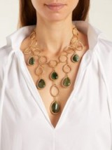 ROSANTICA BY MICHELA PANERO Scarabeo teardrop stone necklace ~ stunning statement piece