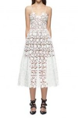 $237.15 Self Portrait Azaelea Dress White