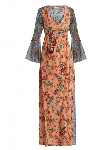 ANJUNA Severa floral print v neck maxi dress / beautiful boho fashion