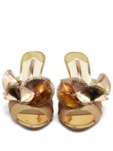SOPHIA WEBSTER Soleil gold laser-cut mules ~ metallic sandals