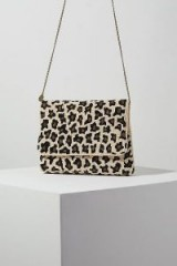 St. Xavier Sonnie Beaded Clutch | leopard patterned accessory