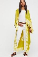 Spellbound Tie Dye Kimono Key Lime | long oriental style jackets