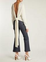 ESTEBAN CORTÁZAR Split-back wool and silk-blend sweater ~ stylish knitwear
