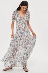 Topshop Spot Floral Bead Maxi Dress | floaty summer style