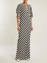 NORMA KAMALI Striped jersey dress – bold monochrome prints