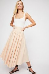 Endless Summer Sunrise Skirt Peachy Pink | front gathered midi skirts