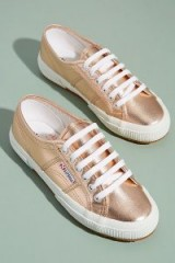 Superga Cotmetu Metallic Trainers in Rose ~ gold sneakers ~ sports luxe