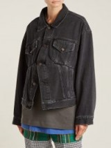 BALENCIAGA Swing denim jacket ~ black stone-washed denim