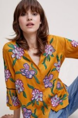 Seen Worn Kept Sydney Embroidered Blouse in yellow