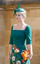 Lady Kitty Spencer In Dolce & Gabbana Alta Moda at the wedding of Prince Harry & Meghan Markle, May 2018 – royal fashion