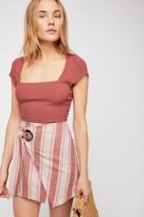 Free People Tuscan Sunrise Skirt in Mauve Combo | asymmetric summer fashion