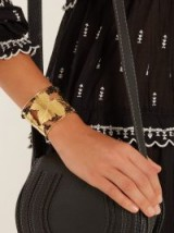 AURÉLIE BIDERMANN Vitis gold-plated cuff ~ grapevine leaf jewellery ~ statement cuffs