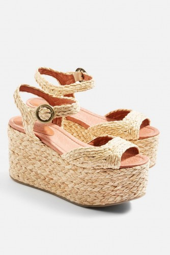 Topshop Weave Flatform Wedges | chunky 70s style summer sandals
