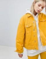 Weekday Denim Trucker Jacket – yellow – jackets – weekend – casual
